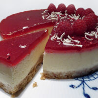 Cheesecake med hindbær