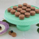 Chokolade macarons m. brombær