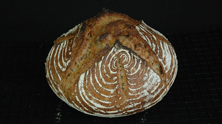 landbrød lavet med Levain surdej