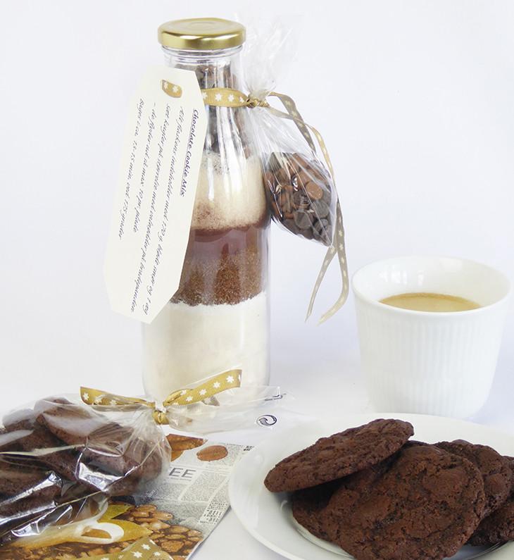 Dobbelt chokolade cookies mix i en flaske - opskrift