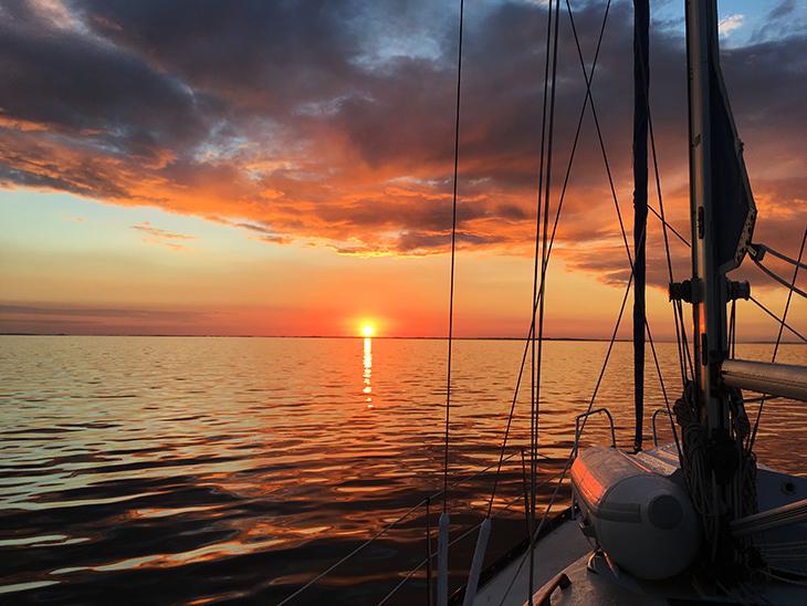 turen går til Sverige - solnedgang