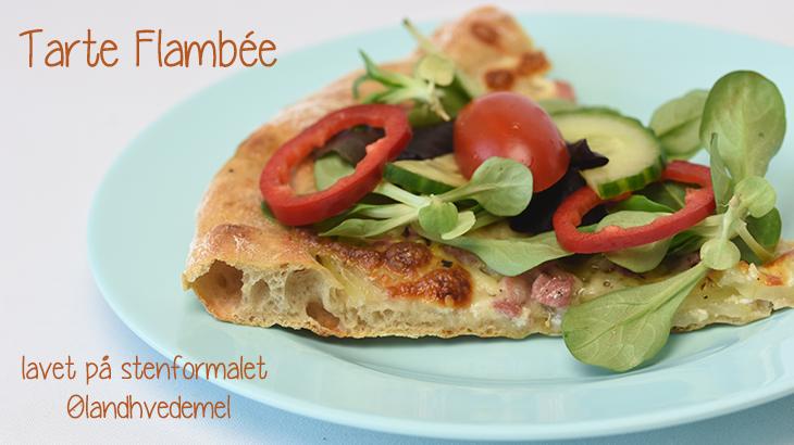 Pizza Med ølandshvedemel Tarte Flambée Opskrift Online