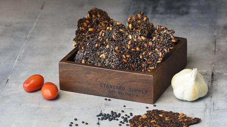 Knækbrød / snack med sorte linser
