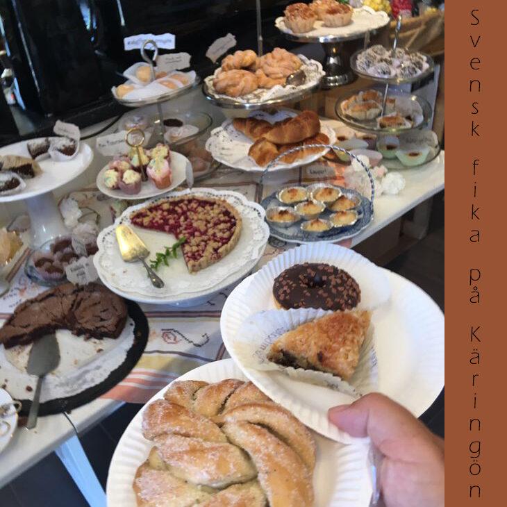 svensk fika på Käringön - sejlerferie anno 2019 i sejlbåden Piece of cake. Kardemommesnurre