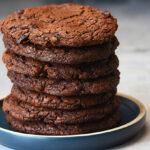 Chokoladecookies med tranebær