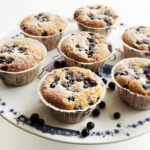 Blåbær muffins med marcipan
