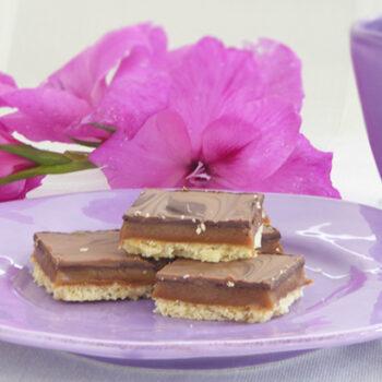Hjemmelavet twix - chokoladebar
