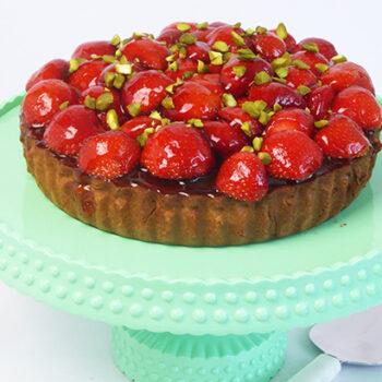 Jordbærtærte med pistacie - opksrift online
