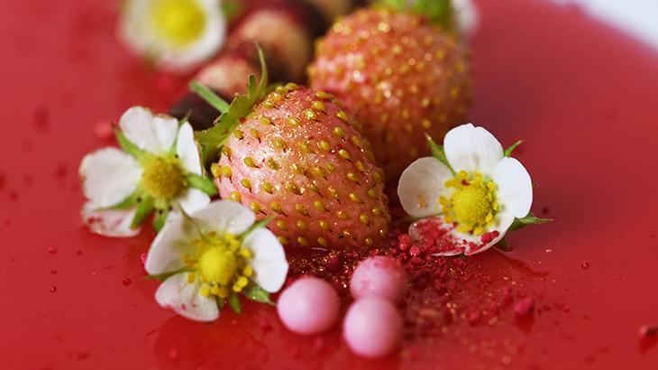 jordbærmousse - jorbærtærte