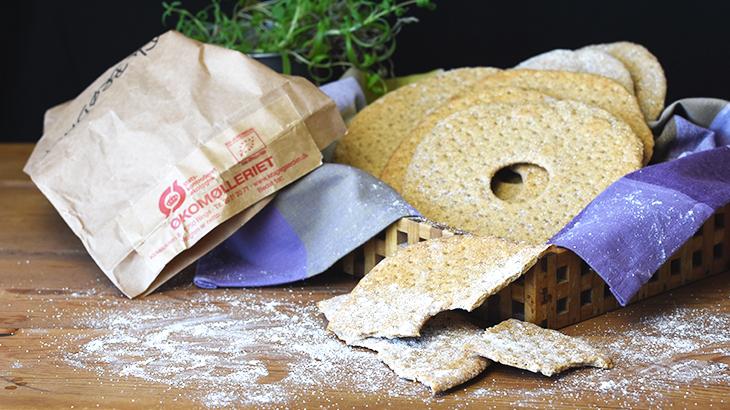 knækbrød - knækbrødsmix fra Økomølleriet / Kragegaarden