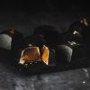 Gold fyldte chokolader med dulce de leche med rom