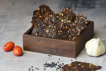 Knækbrød med sorte linser