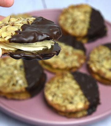 florentiner med chokoladecreme
