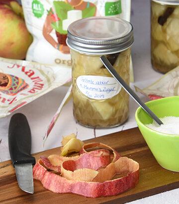 Mamma's Zugar og syltede æblestykker