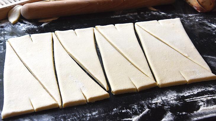 croissant dej klar til rulning