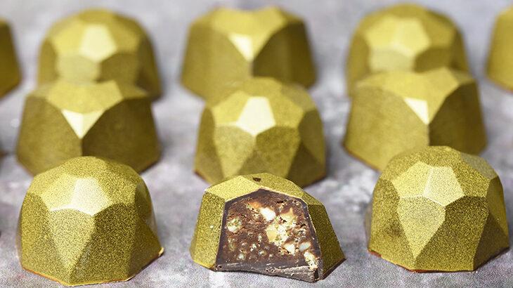 guld chokolader med appelsinkrokant
