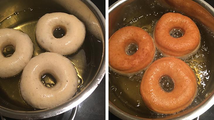 kogning af donuts