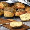 hjemmelavet chia stykke med brødrester